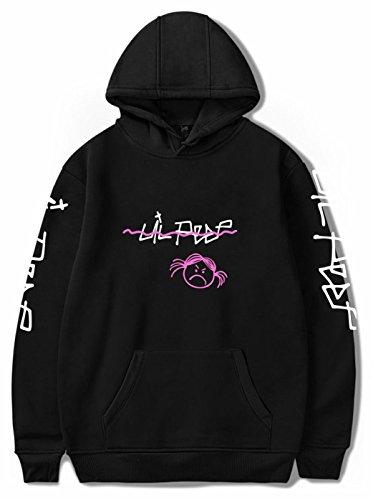 SERAPHY Unisex Kapuzenpullover Lil Peep Angry Girl Frühling Sommer Herren Sweatshirts Hip Hop Lässige Pullover für Damen/Herren Schwarz L Lil Girl