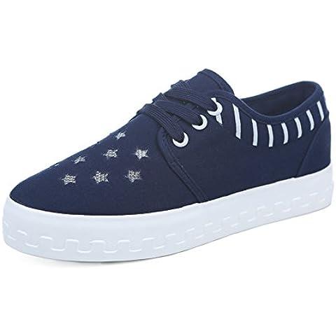 YUE Tela scarpe da donna/Decorazione della stella di cava/Pattini di