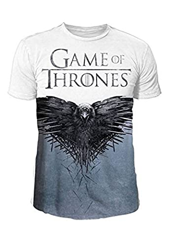Game of Thrones - Herren Serien T-Shirt - Cover Sublimation (Weiß) (S-XL) (M)