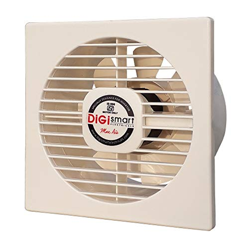 DIGISMART 150 MM HIGH Speed 1600 RPM (6 INCHES) 100% Pure Copper Motor AXIAL Fan (Ivory)