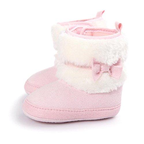Clode® Kleinkind Baby Mädchen Warm Halten Schneestiefel Weiche Sohlen Krippe Schuhe Kleinkind-Stiefel Rosa
