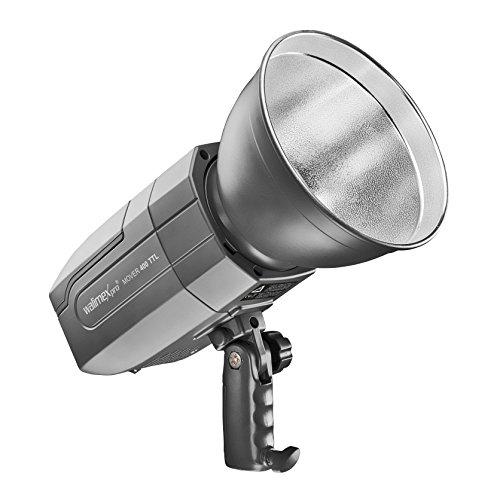 walimex pro Studio Akkublitz Mover 400 TTL, 400 Ws Blitzleistung, Akku 6.000mAh ermöglicht bis zu 500 Blitzauslösungen, 2,4GHz, LED Einstelllicht, professioneller mobiler Indoor und Outdoor Blitz