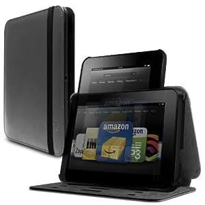 Marware Revolve  Echtleder-Hülle mit Ständer für Kindle Fire HD 7 Anthrazit (nur geeignet für Kindle Fire HD 7 [Vorgängermodell])