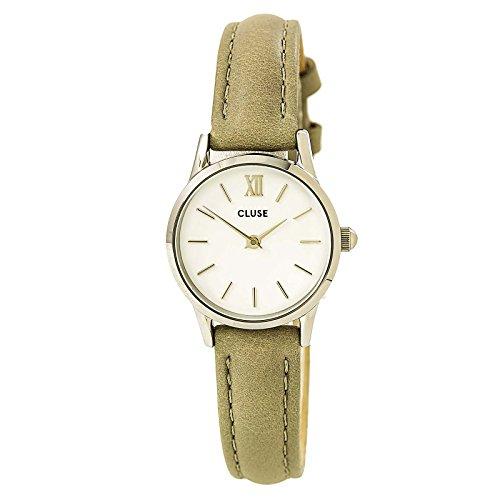 Cluse Unisex Erwachsene Digital Quarz Uhr mit Leder Armband CL50013