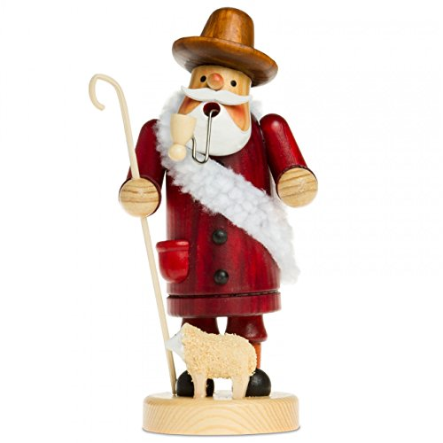 SIKORA Räuchermännchen aus Holz Serie A - 2 Größen - verschiedene Motive, Farbe Modell RM:A15 rot - Schäfer;Größe RM:Höhe ca. 19.5 cm