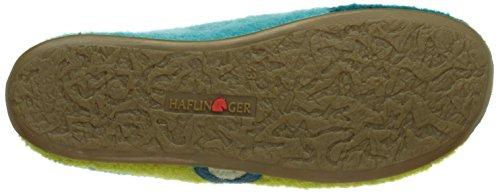 Haflinger Everest Tango, Pantofole in lana Donna Turchese (Türkis (petrol / 16))