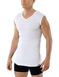 410a01d57e ALBERT KREUZ Maglietta intima 100% puro cotone biologico senza maniche -  scollo a v - canottiera