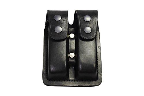 VlaMiTex M2 Doppel Leder Magazintasche für Glock Pistolen (Glock Magazin 27)
