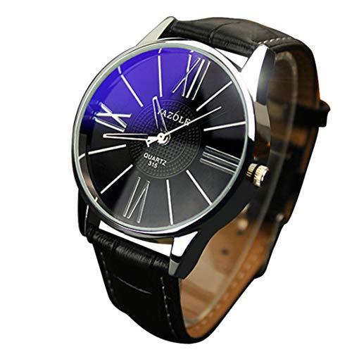 Luxus-Mode-Leder-Mann-Glasquarz-analoge Armbanduhr-Uhren Chenang Ya Zhuo Lun 316 Blu-ray-Uhr Holzuhr Breitenbrunn braunes Lederarmband Sandelholz-Gehäuse Datumsanzeige