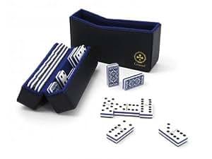 Coffret dominos résine pivot double 6, dos Grimaud