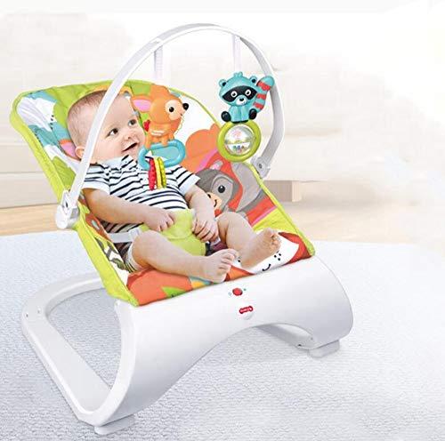 CWLLWC Bebe balancelle,Chaise de 0-2-year-old Baby Musique secouant avec 2 Morceaux de Jouet Pendentif