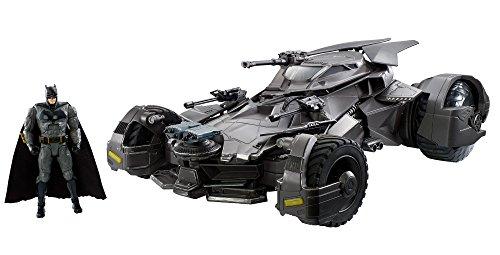 Mattel FRL54 - DC Justice League Movie RC Deluxe Batmobil mit 15 cm Batman Actionfigur, für Sammler, Actionfiguren Spielset ab 14 Jahren (Batman League Justice)