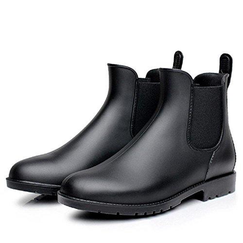 Bottes de pluie U-type de femmes décontractées Black