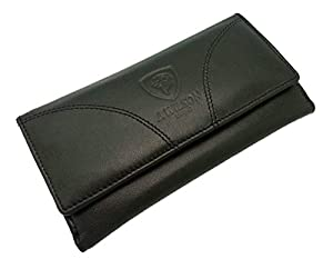 Ladies Designer Quality Soft Sheep Leather Purse Wallet Black