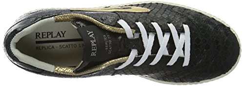 Replay Damen Replica Scatto Sneaker Schwarz (BLACK BLACK 562)