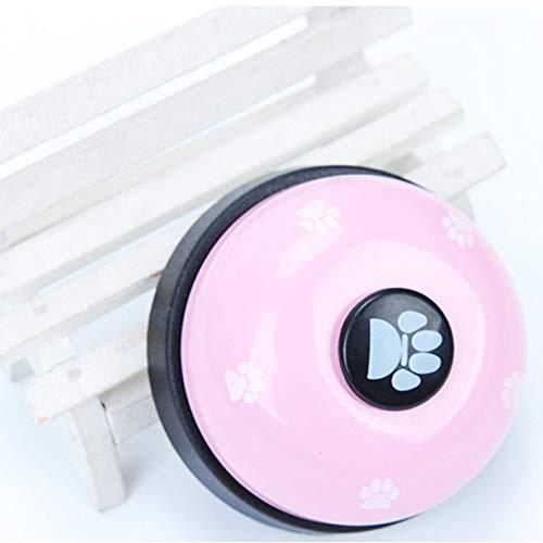 Comomingo Haustier Hund Trainer Sound Bells Quietschende Fütterung Futter Glocke Hundespielzeug Heimtierbedarf - Hund Sound-trainer