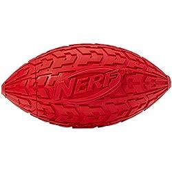 NERF Balle Ovale Pneu avec Sifflet pour Chien , Coloris Aléatoire , Taille M