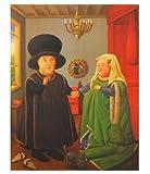 Fernando Botero Die Arnolfinis Poster Kunstdruck 58x49cm