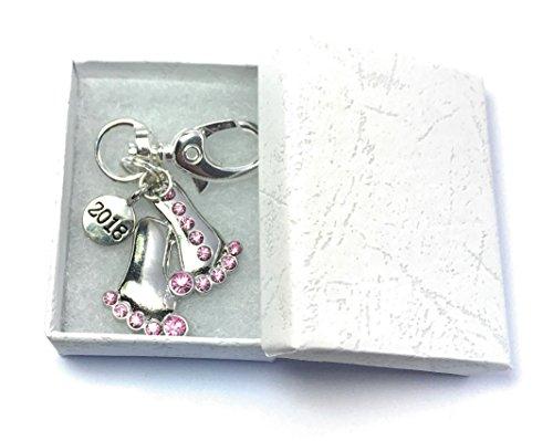 Pieds de bébé 2018 avec strass Rose Porte-clés avec boîte cadeau à la main par Libby de place de marché
