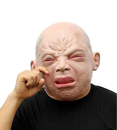 Likorlove Holloween Baby Gesichtsmaske, Latex Neuheit Cosplay Gummi Gruselig Scary Hässliche Baby Kopf Halloween Party Kostüm (Holloween Baby Kostüme)
