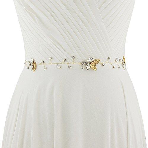 Brown THK-Wedding Pearl Wedding Sash Bridal Belt Bridal Sash Wedding Belt for Wedding