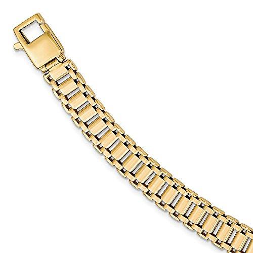 Lazo negro joyas empresa: 9mm 14K amarillo oro