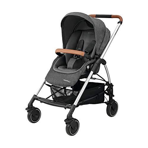 Bébé Confort Mya Passeggino Fronte/Retro Reversibile, Richiudibile Compatto, 4 Ruote, per Bambini dalla Nascita ai 3,5 Anni, Sparkling Grey