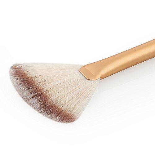 DaoRier Set de Pinceaux de Maquillage Cosmétiques Pinceaux de Maquillage Brosse Argent