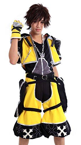 De-Cos Kingdom Hearts Cosplay Costume - Sora Outfit Yellow Color Set