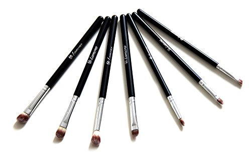 Make Up Eye Brush Set - Eyeshadow Eyeliner Blending Crease Kit - Best Choice 7 Piece Essentials - Pencil, Shader, Tapered, Definer - Vegan Synthetic Bristles That Last Longer, Apply Better Makeup & Make You Look Flawless