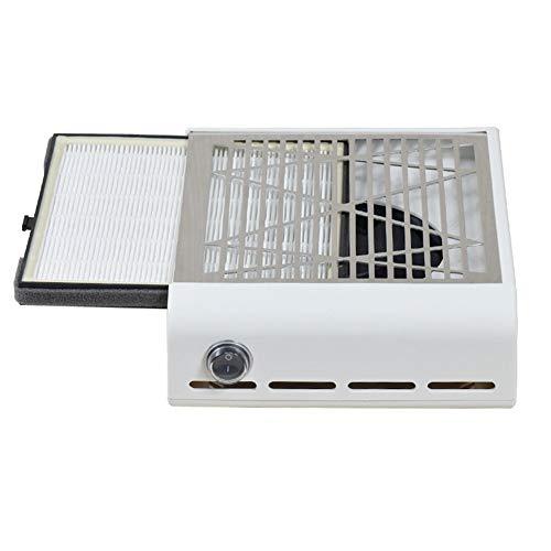 LOVECRAZY Aspirador Profesional de Polvo de Uña 40w Alta Potencia Máquina de Colector de Polvo de Succión para Uñas Manicura Ideal para Esteticistas