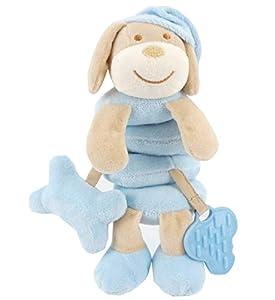 Duffi Baby- Peluche Espiral Perrito, 100% Poliéster, Color Azul (Master Baby Home, S.L. 0765-12)
