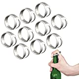 Stonges 2 PCS Ring Type Bottle Opener Stainless Steel Hand Ring Opener Wine Beer Bottle Opener