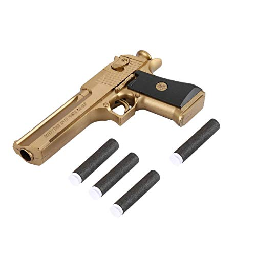 Kandall Toy Gun, Rubber Bullet Pistol Childen's toys gun - Gold