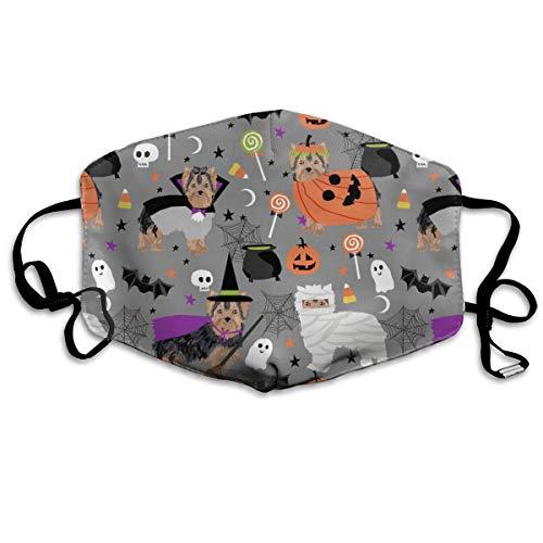 Yorkshire Terrier Yorkie Halloween-Kostüm, niedlich, Autumn Grey, Anti-Staub-Maske, waschbar, wiederverwendbar, Mouth Masken