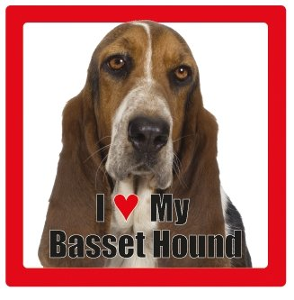 Basset Hound benannt Hund/Haustier Untersetzer von Sterling effectz -