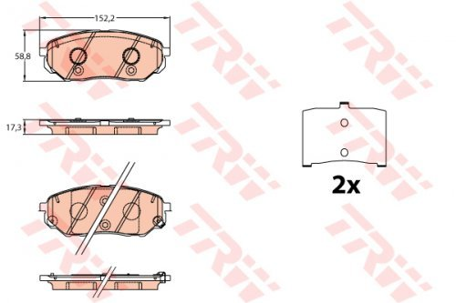 Preisvergleich Produktbild TRW gdb3638 Bremsbeläge