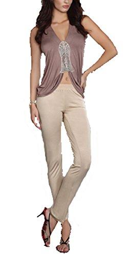 2-teiliges Nachtset Damen Schlafanzug – Hose und Top Persis S - XL Livia Corsetti Fashion Verschiedene Farben