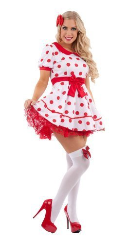Rag Doll Miss Dolly Female Fancy Dress Costume - Medium (UK 12-14) by (Doll Kind Kostüm Rag)