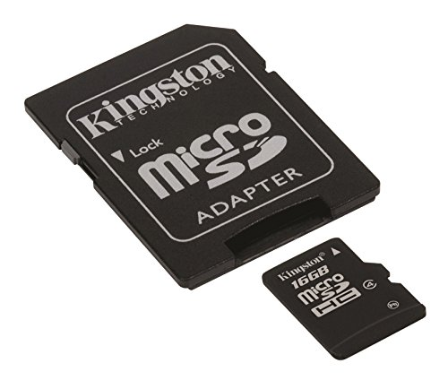 Kingston SDC4/16GB   Tarjeta de memoria micro SDHC de 16 GB (4 MB/s)  negro