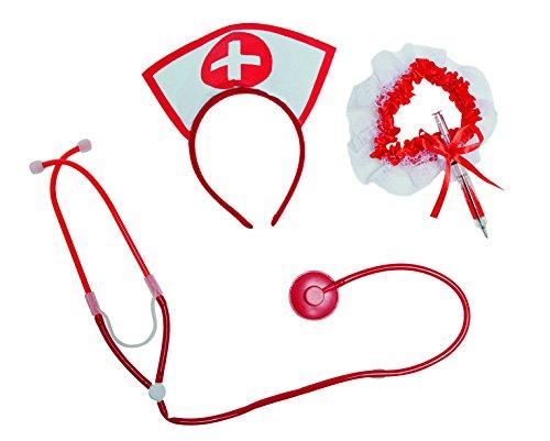 Kostüm Zubehör sexy Krankenschwester Karneval Fasching (Zubehör Krankenschwester Kostüm Halloween)