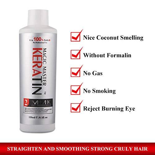 GGWAL 120Ml Mmk Haarpflege Keratin Haarglättungscreme Nizza Geruch Kokosnuss Verbessern Sie Die Reparatur Von Krausem Haar Und Glätten Sie Das Haar - Creme Hydrating Conditioner
