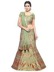 Styles Closet Silk Jacquard Lehenga Choli(Pista Green)