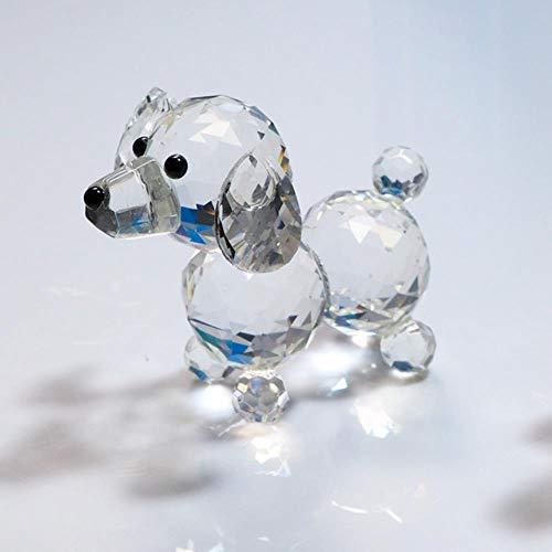 Cristalli Soprammobili Pezzi Da Collezione Famiglia Crystal Lovely Dog Figurine Handmade Miniature Glass Craft Craft Decorazioni Per La Casa Ornamento Trinket Regalo Giocattolo Per Bambini, Trasparent