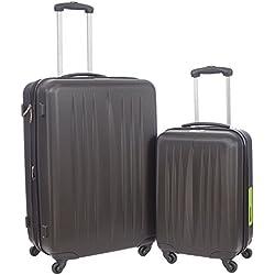 Swiss Travel Products - Juego de maletas negro negro