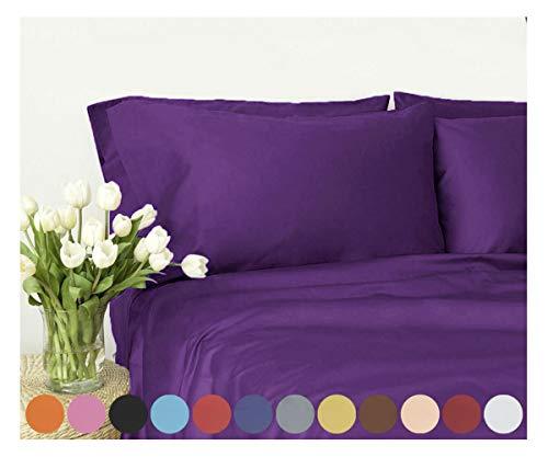# 1Bed Sheet Set-Verkauf-Höchste Qualität gebürstet Mikrofaser 1800Betten-Falten, verblassen, schmutzabweisend-Hypoallergen, Mikrofaser, violett, Volle Größe (König Cotton Bed Sheet Sets)