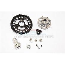 Traxxas Slash 4x4 Low-CG Version Upgrade Parts Aluminium Gear Adapter With Steel 32 Pitch 56T Spur Gear & 13T Motor Gear - 1 Set Grey Silver