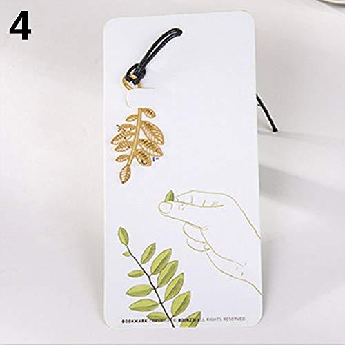 Display08 Creative Lotus Maple Palm Frond sensibles Plant Design Marque-page en métal Cadeau Sensitive Plant
