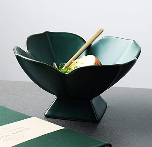 Tkuri Kreative Platte Tablett Gericht Holztablett Gericht Tablett Markt Steinzeug-Teeteller nach japanischer Art, hohe Füße, tägliche Snacks, kleines Gericht (Kunststoff-platten Gold Mit Trim)