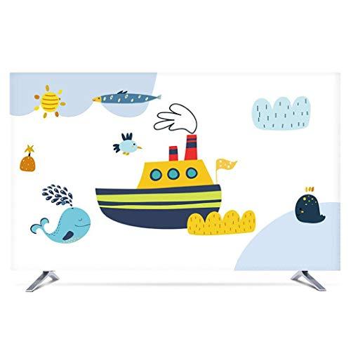 Monitor Hülle Polyesterbezug Staubdichtes, antistatisches LCD- / LED- / HD-Display-Schutzgehäuse Kompatibel mit Curved-TV, Desktop-TV und Hänge-TV 22-80 Zoll-75Zoll-H